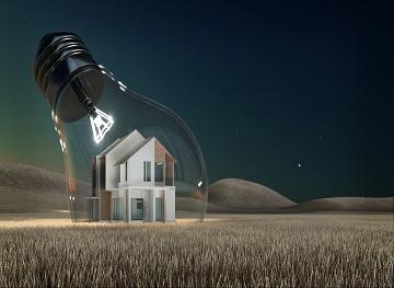 Light Bulb House Idea - 3d rendering