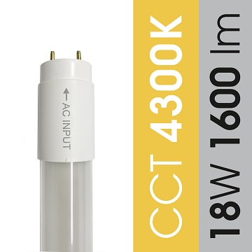 T8 4300K 18W